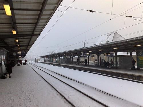 Bahnsteig in Weimar