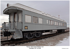 """Pecos"" Observation/Lounge Car (Robert W. Thomson) Tags: railroad train nebraska railway trains traincar pecos heavyweight rollingstock loungecar passengercar observationcar holdrege clerestorycoachusstock"