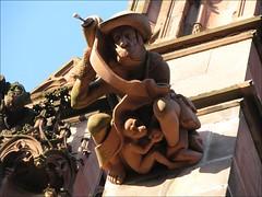 Freiburg in Breisgau (Elena just visiting...) Tags: sculpture building architecture germany geotagged deutschland cathedral gothic medieval gargoyle age allemagne gargouille mnster gotique cathedrale gotik bestiary bestiaire mittelalter wasserspeier moyen bestiarium