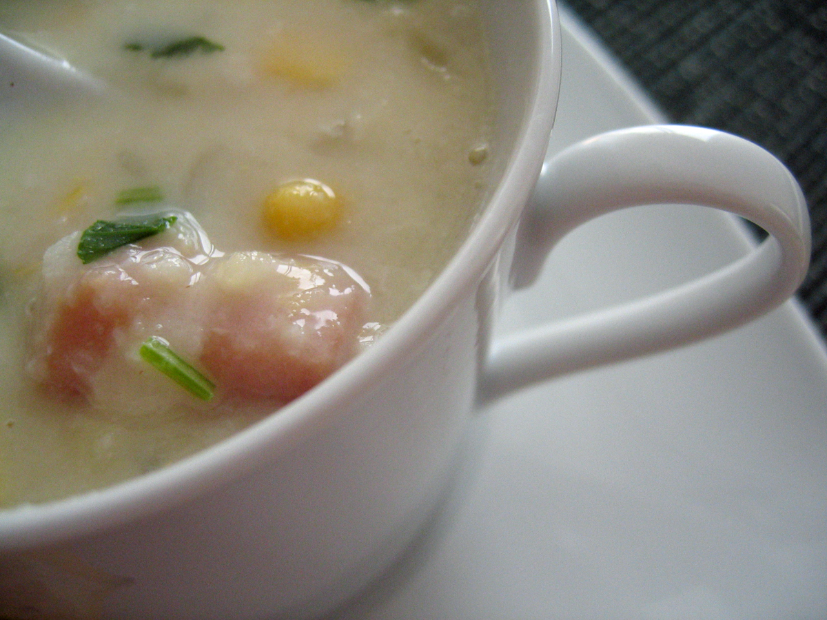 Sweet Corn Crab Chowder