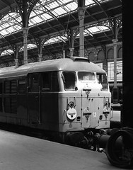 London Liverpool Street 25th July 1976 (loose_grip_99) Tags: railroad england london station train diesel railway 1976 liverpoolstreet ger britishrailways lner greateastern class31