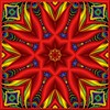 Feel the Heat (Lyle58) Tags: blue red abstract color green geometric yellow circle design colorful pattern kaleidoscope symmetry zen harmony reflective symmetrical balance circular kscope kaleidoscopic kaleidoscopes kaleidoscopefun kaleidoscopesonly lyle58
