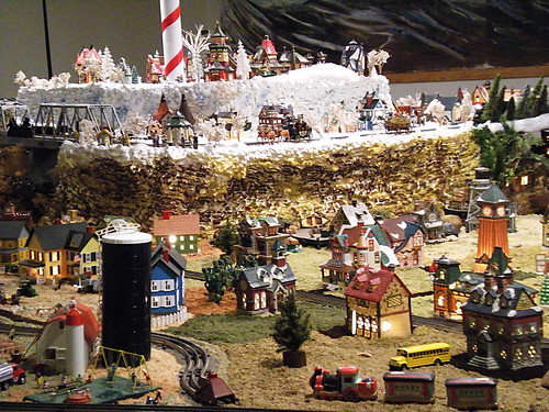All Saints Church train display.