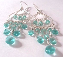 Apatite provide wonderful colour in these sterling silver earrings