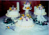yellow wedding cake photo