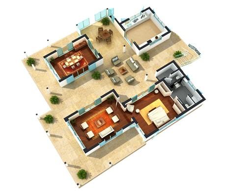 plantas casas modernas