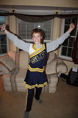 Nate's Cheerleading Costume