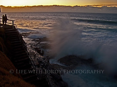 Bogey Hole Fury (Life with Jordy) Tags: ocean sea water sunrise newcastle waves australia wideangle newsouthwales jordy crashing bogeyhole panasonicdmcfz30 petejordan lifewithjordy elements8 bogeyholenewcastle elementsorganizer ©lifewithjordyphotography