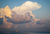 Clouds over Male Atoll (Lil [Kristen Elsby]) Tags: ocean travel pink blue sea cloud topf25 clouds boat topf50 asia yacht topv1111 fluffy maldives puffy cloudscape southasia travelphotography maleatoll canong12