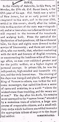 Colonel Daniel Smith Obituary (Western Carolinian of Salisbury, North Carolina, Vol. IV, dated Tuesday, June 1, 1824)