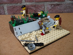 Leaving the beach (Rebla) Tags: beach lego wwii sword ww2 british dday brengun stengun