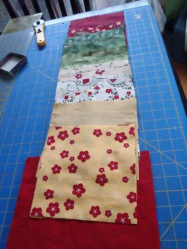 Synchronized Squares Quilt Along Fabrics