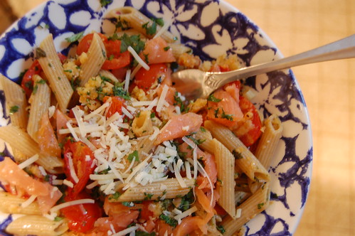 Pasta with Roasted Grape Tomatoes and Fresh Herbs
