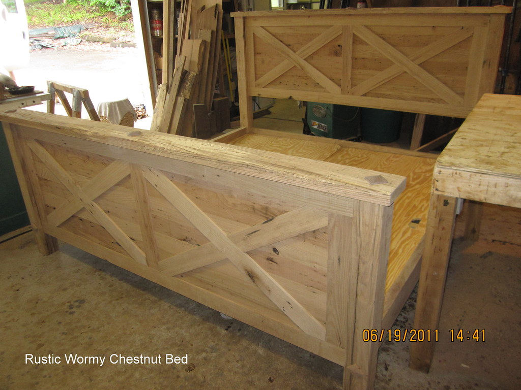 Rustic Wormy Chestnut Bed