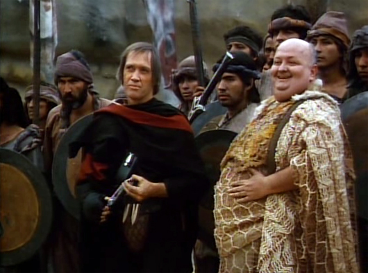 David Carradine y el argentino Guillermo Marín en 'The Warrior and the Sorceress'