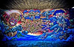 hdr graffiti (tomcarpenter) Tags: munich mnchen graffiti isar dri hdr brudermhlbrcke