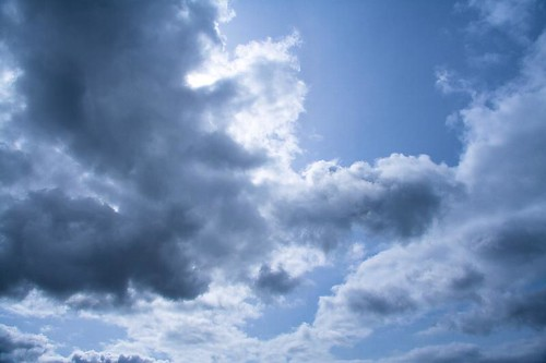 Head In The Clouds - a cloudy sky in Stayton Oregon