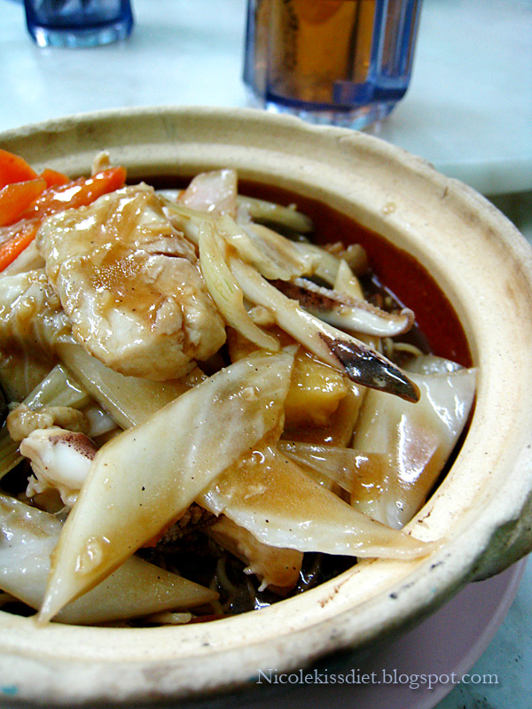 clay pot seafood noodle 2