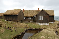 Hoyvk (g.noroy) Tags: ocean old travel winter summer house d50 photo nikon europe foto ducks faroeislands froyar hoyvk gertnoroy