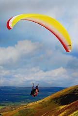 Paraglider2 (Stephen Poole) Tags: sky sport free hills paraglider birdseyeview northyorkshire