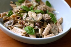 Sausage and mushroom penne in mustard cream sauce 2