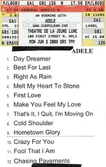 Adele Setlist - Minneapolis 6-2-2008