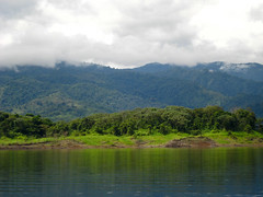 green glowing island (maveric2003) Tags: costarica arenal lakearenal manmadelake jeepboatjeep