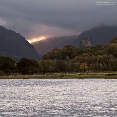 Dolbadarn Castle Sunrise (Sean Bolton (no longer active)) Tags: lake water wales sunrise cymru llanberis snowdonia dolbadarn llynpadarn llanberispass casle seanbolton ffotocymrucouk