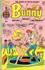 Bunny, the Queen of the In-Crowd no 21 (sparkleneely) Tags: bunny vintage foxy cool comic harvey dynamite 1976 thequeenoftheincrowd