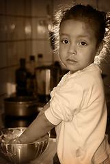 Daniela Cooking in Sepia
