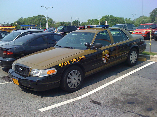 Maryland Sate trooper car - Taken With An iPhone