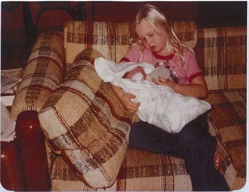 Me holding Kristin, 1979