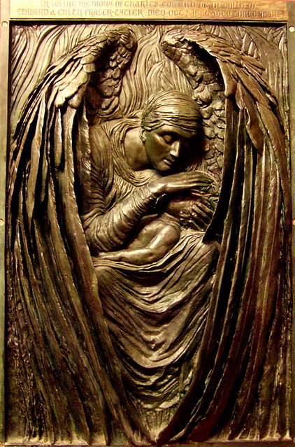 "Part of Commemorative Relief of Triptych ""Death crowning innocence"""