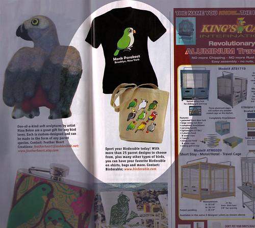 Birdorable featured in Bird Talk Magazine Aug 2008