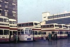 Standerwick 18 (SFV 414), Scout S68 (NRN 613), North Western 915 (VDB 915), Scout S67 (NRN 612), Standerwick 25 (SFV 421) and others at Victoria CS 1960s (bkp550) Tags: bus scout leopard alexander northwestern leyland weymann victoriacoachstation atlantean standerwick sfv421 sfv414 nrn613 vdb915 nrn612