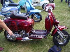menace lambretta (mark & anne's photos) Tags: vespa rally lambretta scooters custom scooterrally bretta ronniebiggs