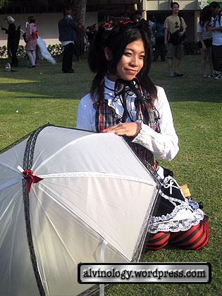 gothic lolita with umbrella