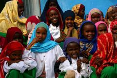 Smiling school girls (LindsayStark) Tags: africa travel school portrait girl children war refugee hijab conflict somali ethiopia schoolkids humanrights humanitarian somalia displaced refugeecamp humanitarianaid emergencyrelief postconflict waraffected conflictaffected jijiga