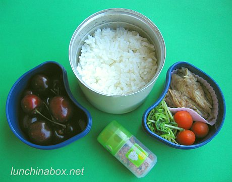 Belacan skate wing bento lunch for preschooler