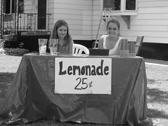 Lemonade for sale.... (**Ms Judi**) Tags: girls wisconsin sale lemonade cups blackwhitephotos peshtigowisconsin