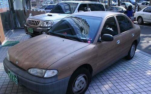 wooden sedan