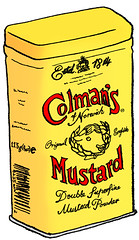 Colman's Mustard (hwayoungjung) Tags: illustration drawings mustard brands colmans colmansmustard englishthings britishthings notsomellowyellow