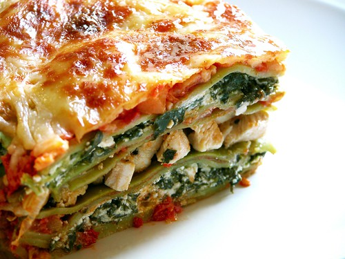 Chicken & spinach lasagna