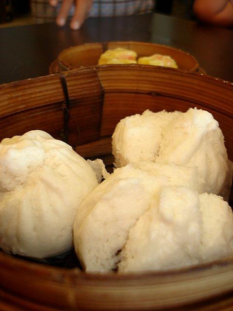 Char siew bau or steamed BBQ bun (RM3.50)
