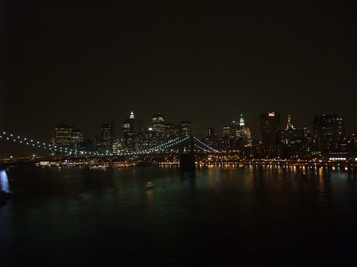 Brooklyn Bridge and Downtown New York