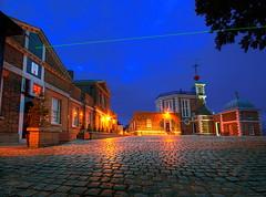 Royal Observatory (canary.wharf) Tags: uk blue london night dark twilight nikon greenwich royal gimp observatory hdr primemeridian greenwichpark digitalblending sigma1020 d40 royaloservato