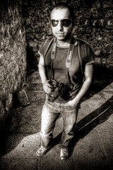 P H O T O G R A P H E R (Khaled A.K) Tags: portrait blackandwhite bw monochrome photography mono photographer fantasy jeddah khaled bnw 18mm canoneos400d ageel kashkari