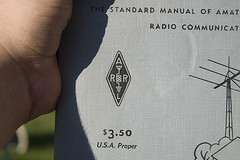 The Standard Manual of Amateur Radio (Draplin) Tags: freedom treasure dale kentucky fleamarket ddc garagesale junkin route127 draplin badassmotherfuckers worldslongestyardsale sweatypeople evanrose wlys daleallendixon jessgibson