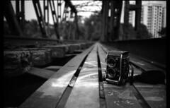 brought my brick out for a little walk (lcy) Tags: bw tlr monochrome singapore urbandecay railway rangefinder ishootfilm olympusxa 135mm c41 konicamonochromevx400 canoscan8800f mamiyac330f clementitown