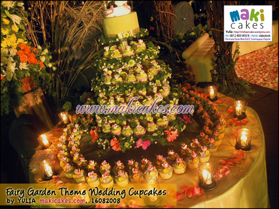 Fairy Garden Theme Wedding Cupcakes - Maki Cakes